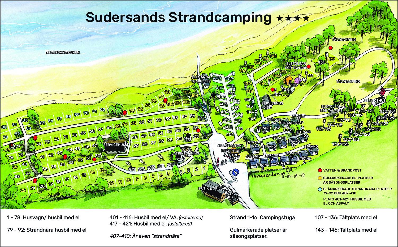 Översiktskarta Strandcampingen