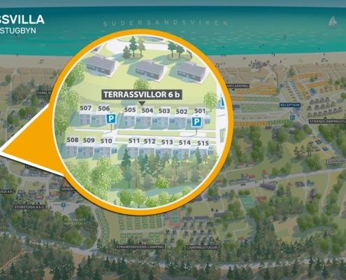 Terrassvilla karta Fårö Gotland